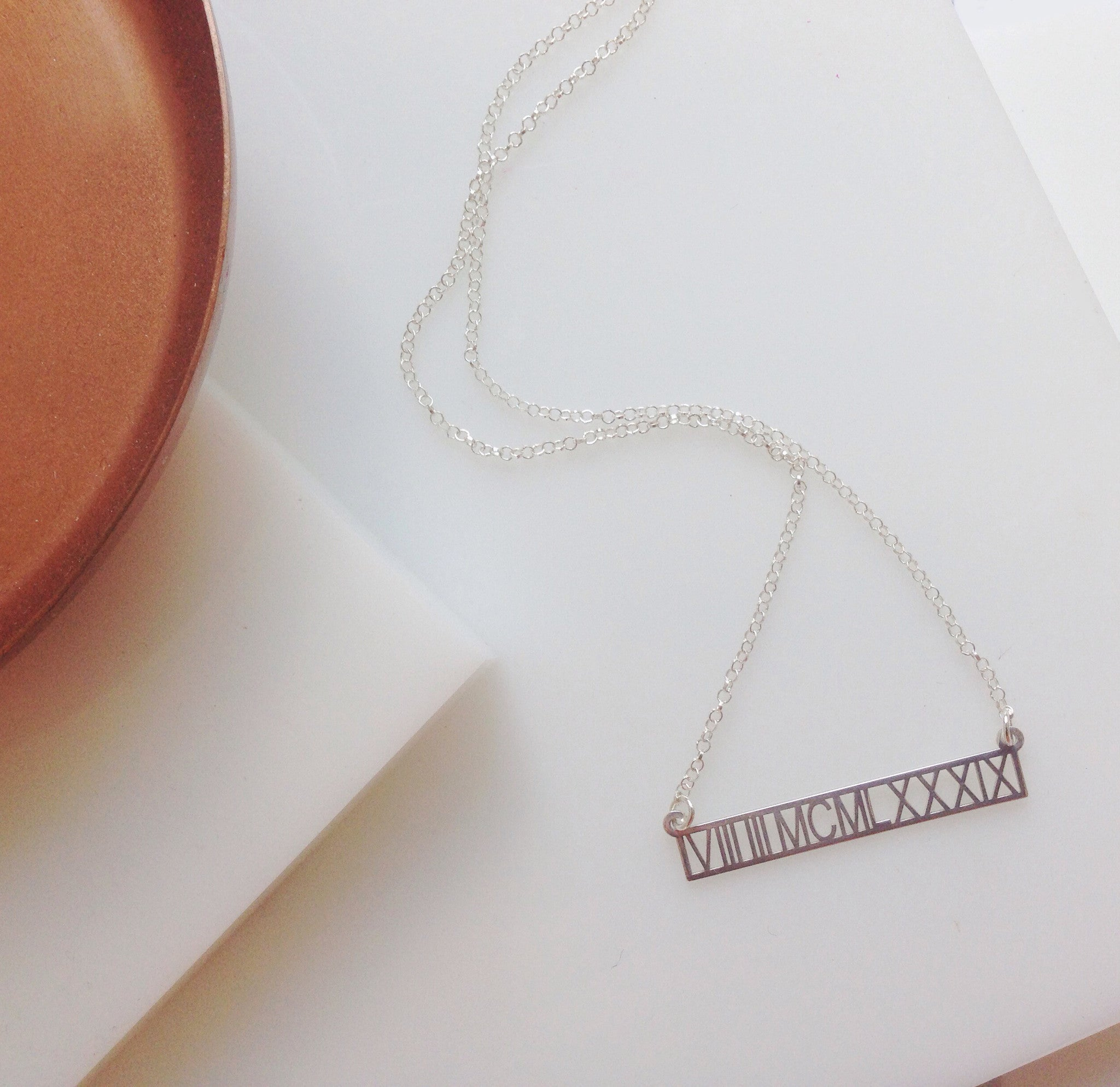 Special Date Roman Numeral Necklace