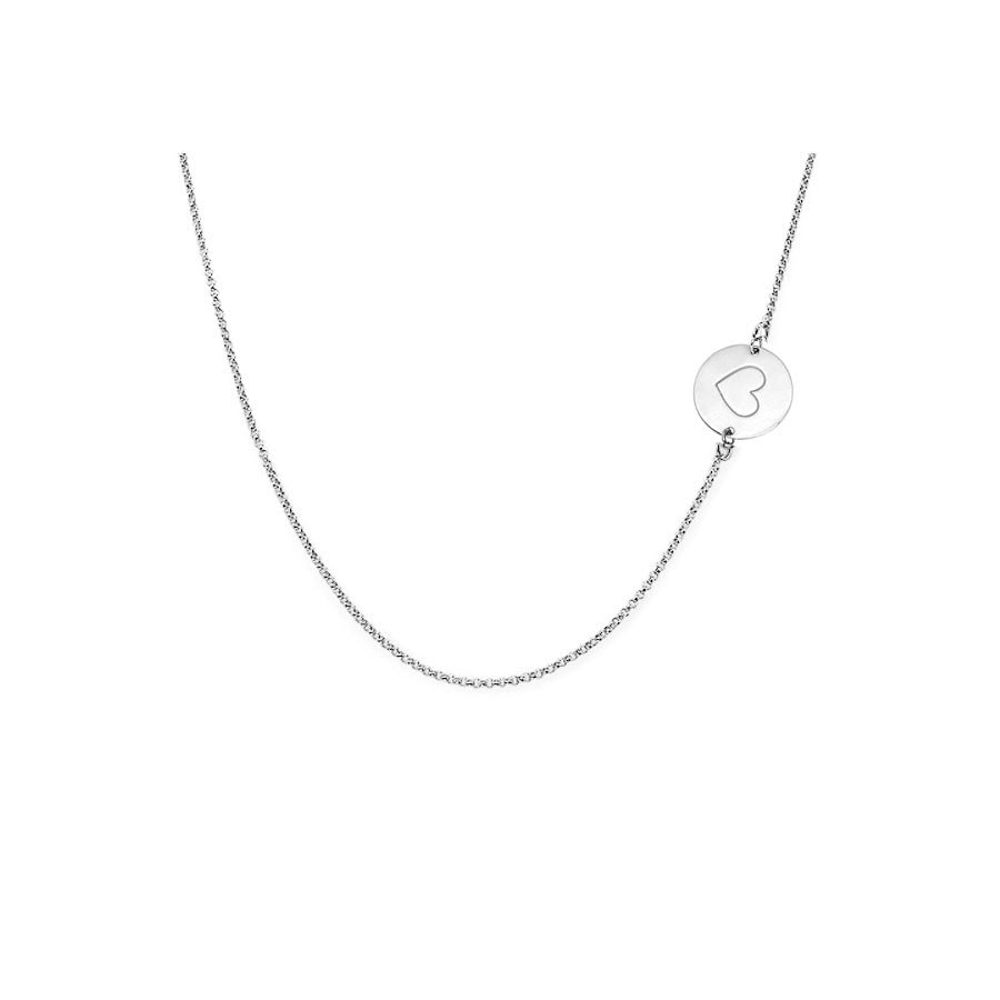Engraved Charm Long Necklace