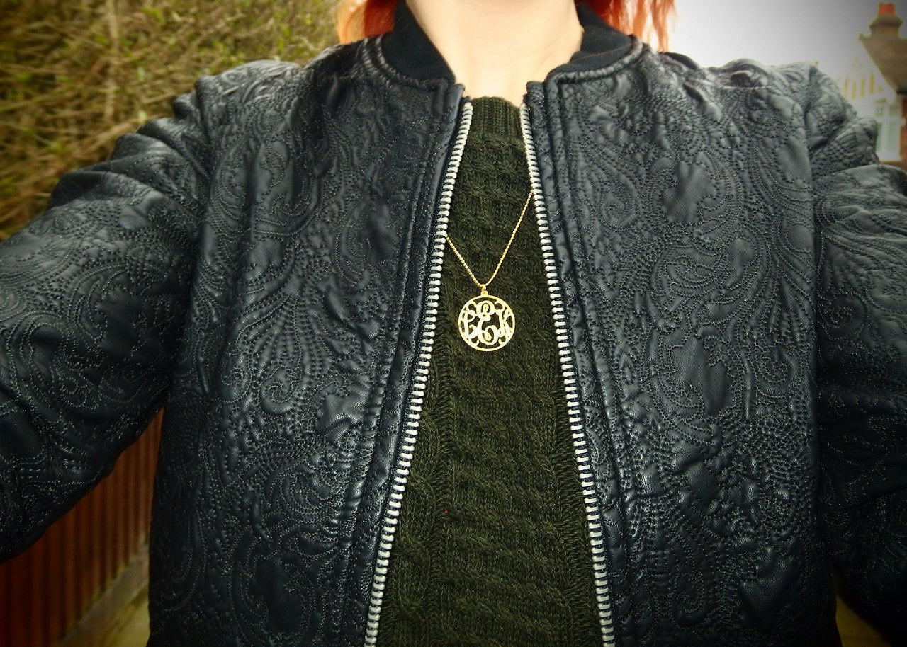 Monogram Circle Necklace