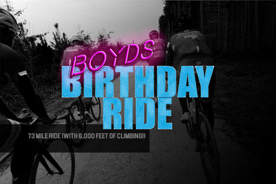 It's time! Boyd's Birthday Ride!