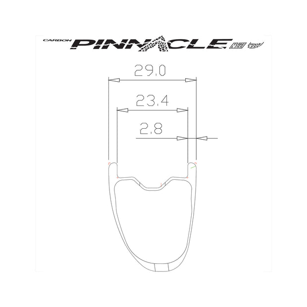 Pinnacle Hookless Front Wheel