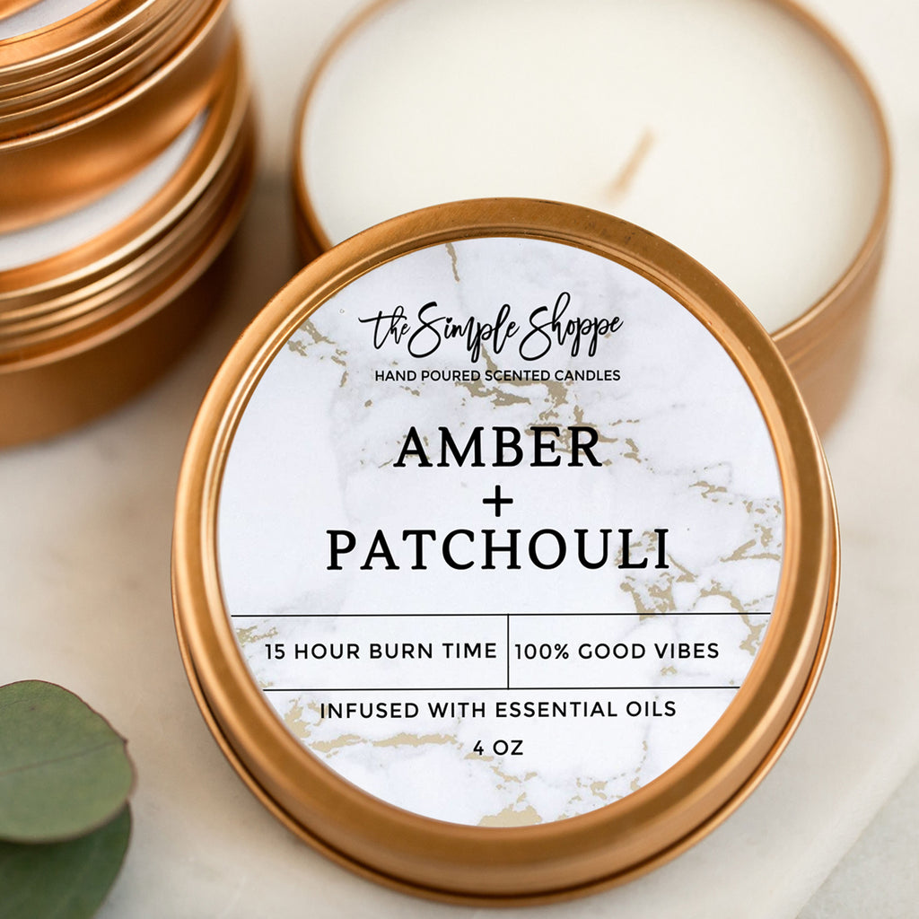 AMBER + PATCHOULI TRAVEL TIN