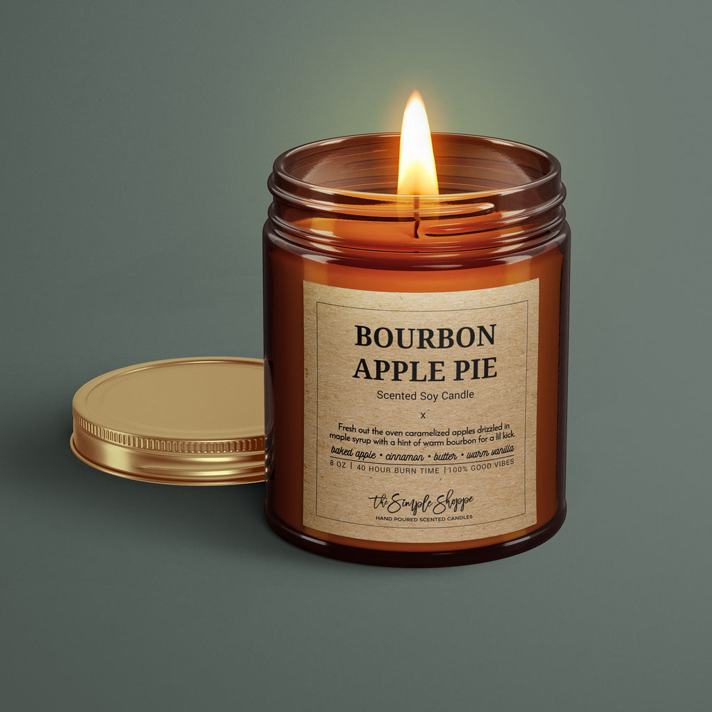 BOURBON APPLE PIE FALL SCENTED CANDLE