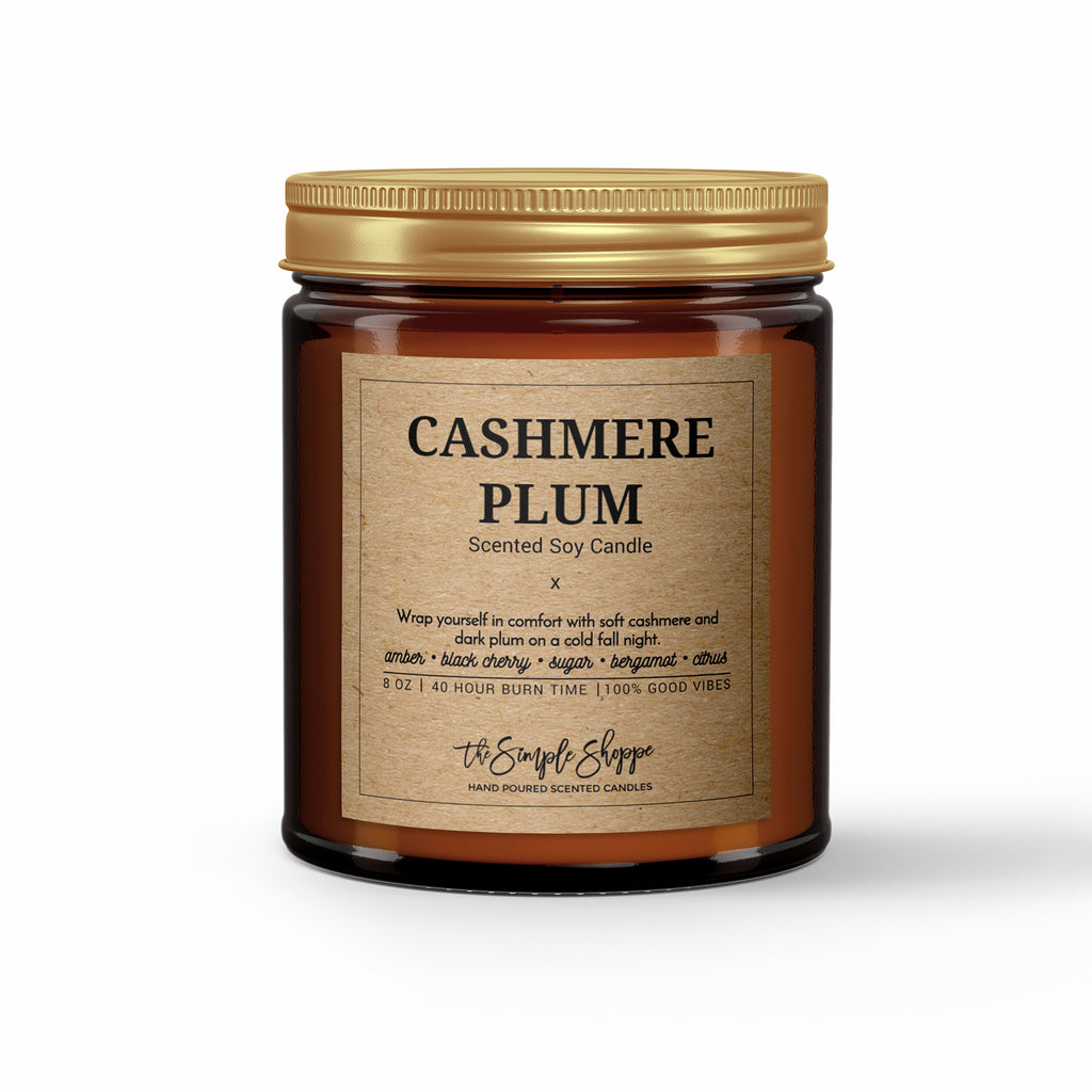 Pomegranate Cider Fall Scented Candle The Simple Shoppe