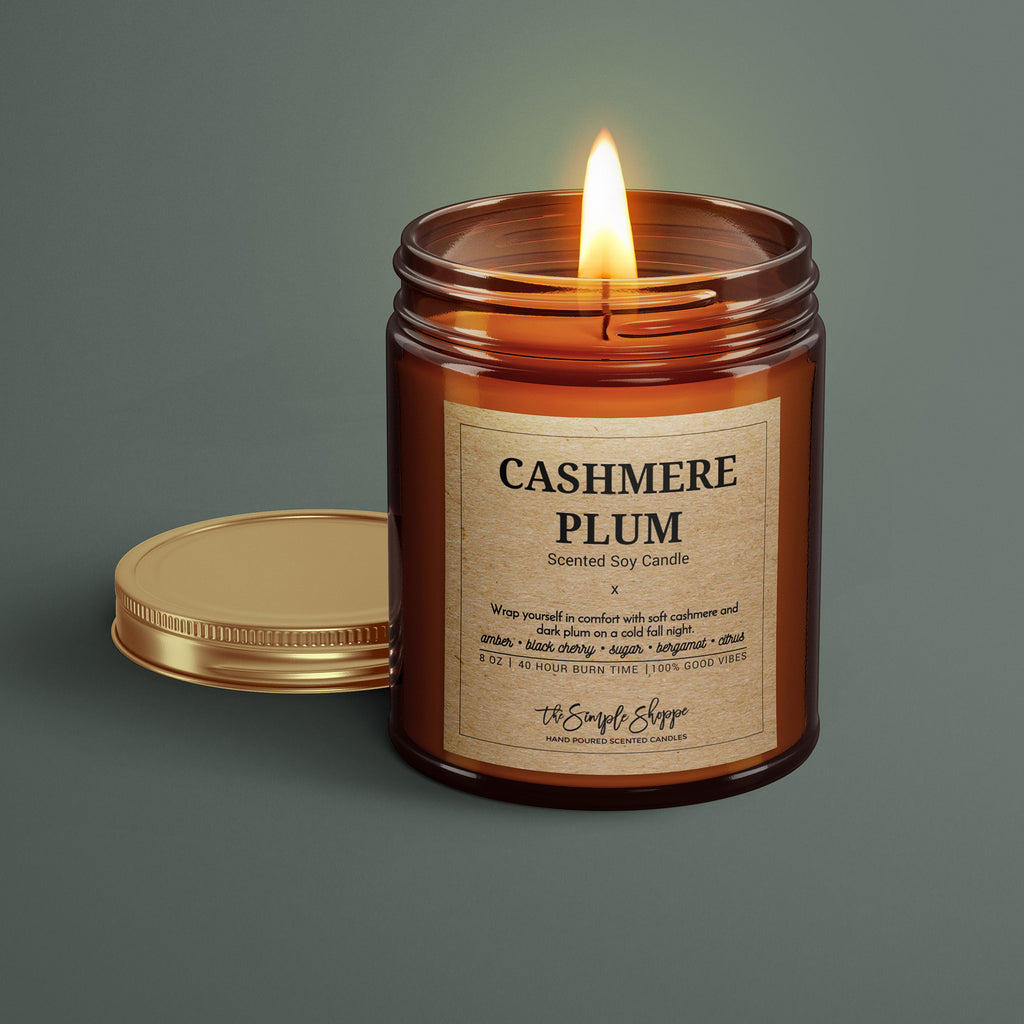 CASHMERE PLUM FALL SCENTED CANDLE