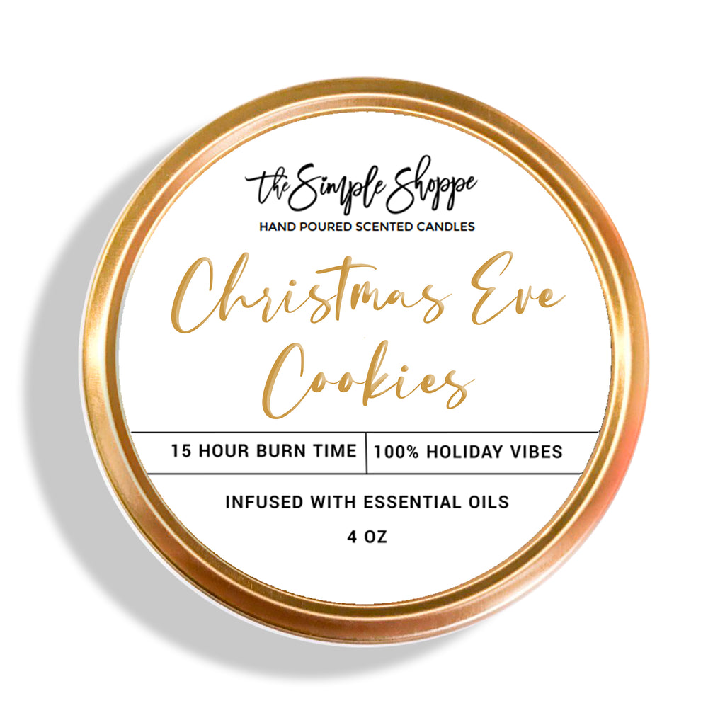 CHRISTMAS EVE COOKIES HOLIDAY SCENTED TRAVEL TIN