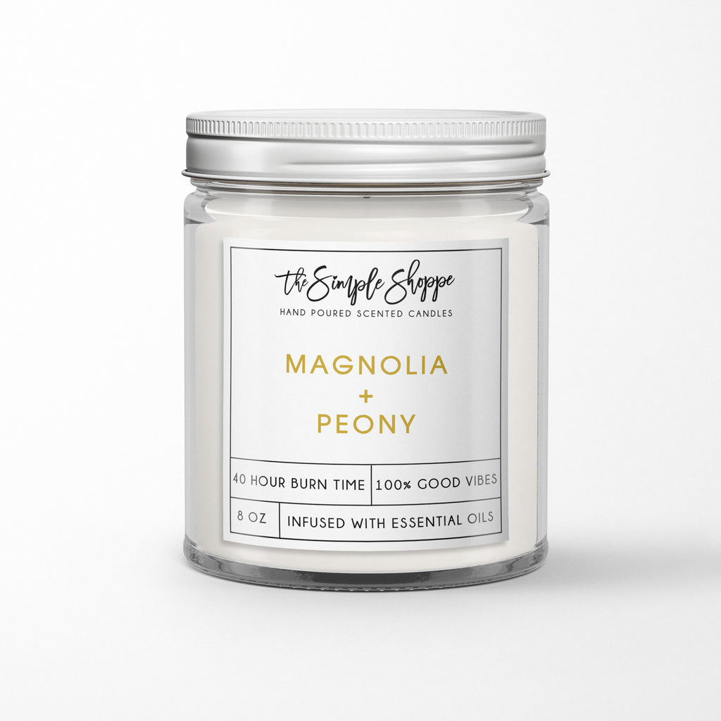 MAGNOLIA + PEONY SCENTED CANDLE
