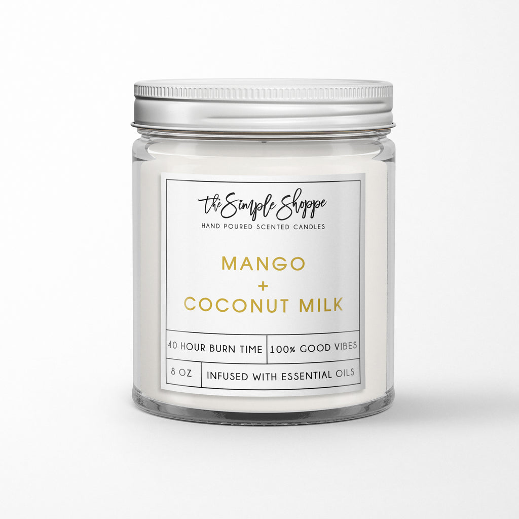 MANGO + COCONUT MILK SCENTED CANDLE