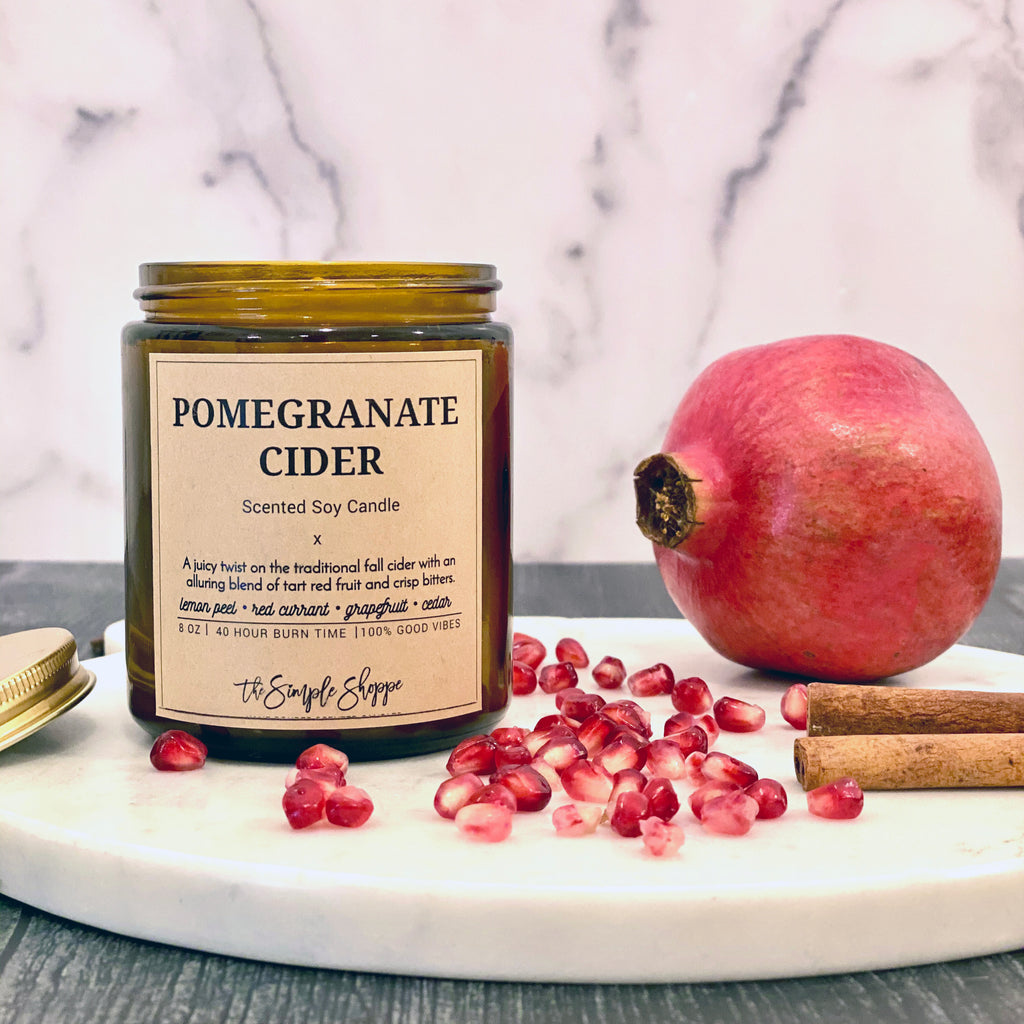 POMEGRANATE CIDER FALL SCENTED CANDLE