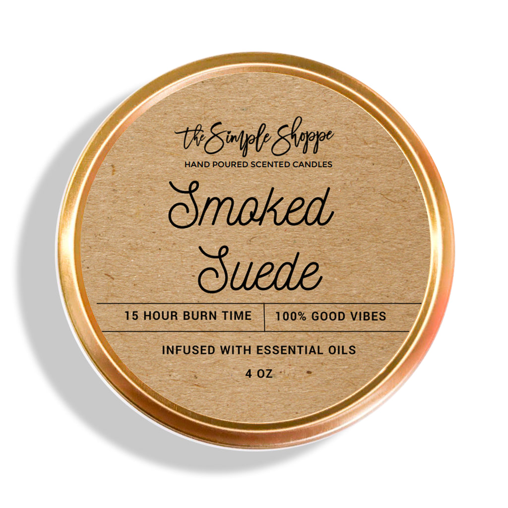 SMOKED SUEDE FALL SCENTED TRAVEL TIN
