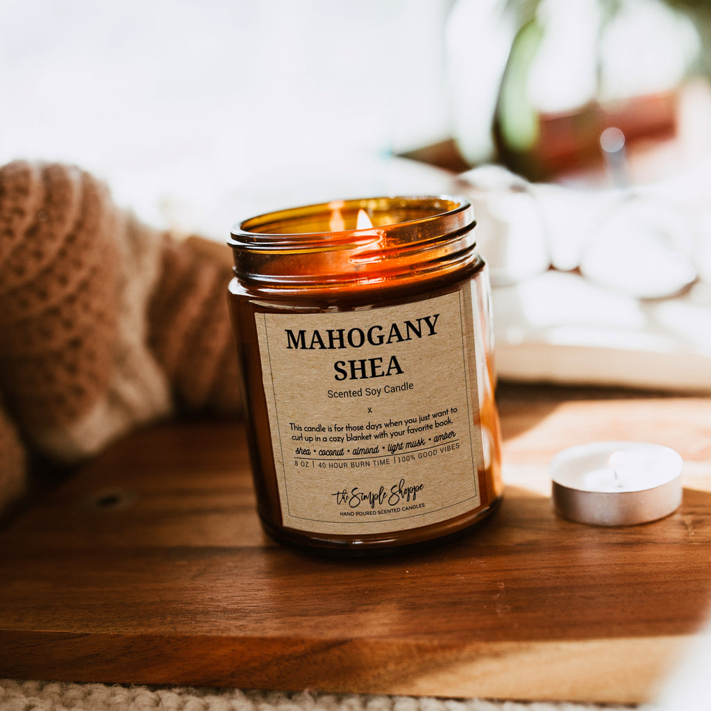 MAHOGANY SHEA FALL SCENTED CANDLE