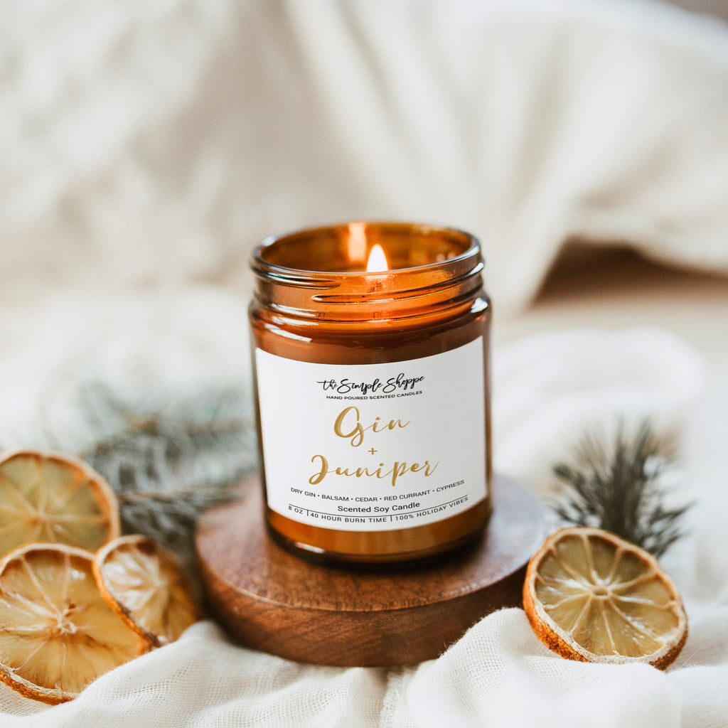 GIN + JUNIPER HOLIDAY SCENTED CANDLE