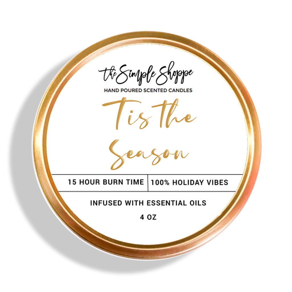 TIS THE SEASON HOLIDAY SCENTED TRAVEL TIN