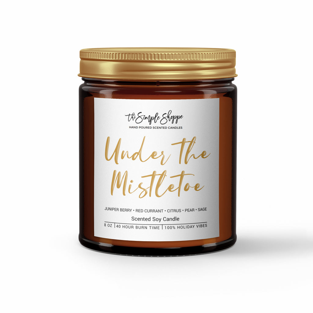 UNDER THE MISTLETOE HOLIDAY SCENTED CANDLE