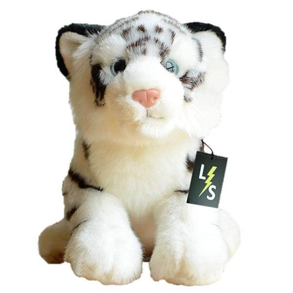 LightningStore Adorable Cute White Siberian Bengal Tiger Stuffed Animal Doll Realistic Looking Plush Toys Plushie Children's Gifts Animals