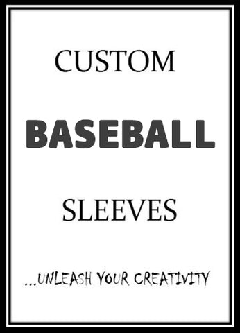 Custom Baseball Card Sleeves  - On Sale Now!