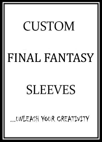 Custom Final Fantasy Card Sleeves - Card Sleeves For Final Fantasy - On Sale Now!
