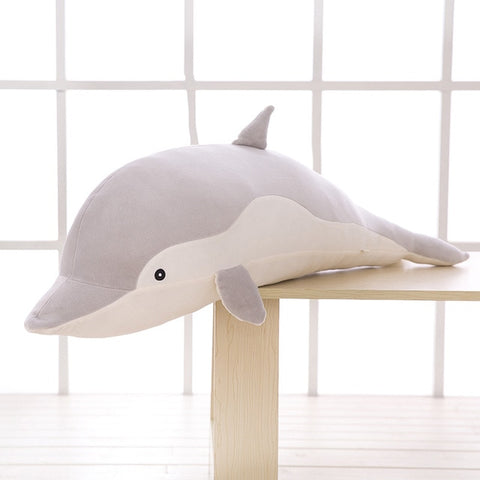LightningStore Adorable Cute Big Giant Large Dolphin Stuffed Animal Doll Realistic Looking Plush Toys Plushie Children's Gifts Animals