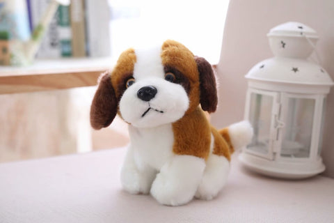 LightningStore Adorable Cute Small Saint Bernard Puppy Dog Doll Realistic Looking Stuffed Animal Plush Toys Plushie Children's Gifts Animals