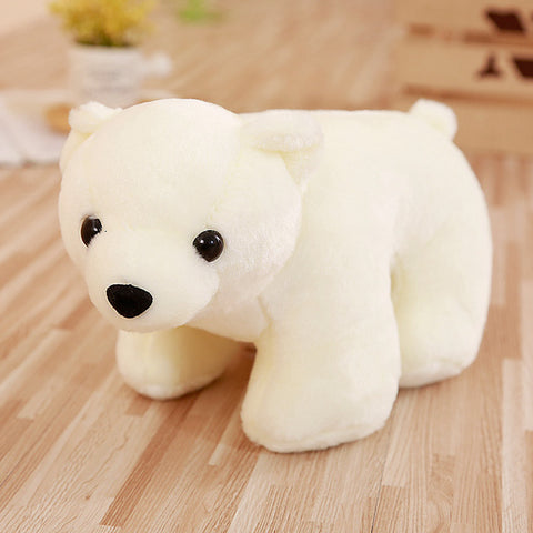 LightningStore Adorable Cute Standing Polar Bear Stuffed Animal Doll Realistic Looking Plush Toys Plushie Children's Gifts Animals
