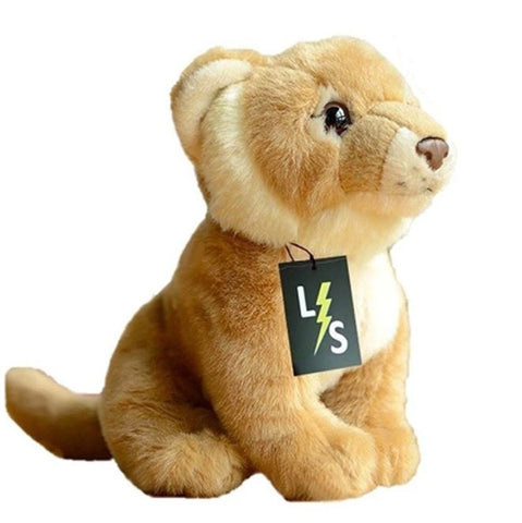 LightningStore Adorable Cute Sitting Lion Lioness Cub Stuffed Animal Doll Realistic Looking Plush Toys Plushie Children's Gifts Animals
