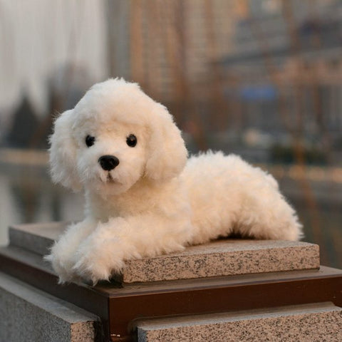 LightningStore Cute White Poodle Dog Plush Stuffed Animal Doll