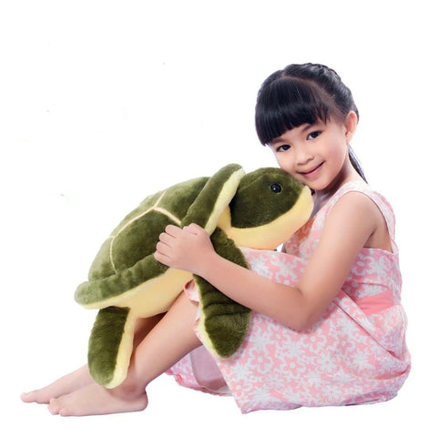 LightningStore Big Giant Large Green 50 cm Turtle Tortoise Doll Realistic Looking Stuffed Animal Plush Toys Plushie Children's Gifts Animals