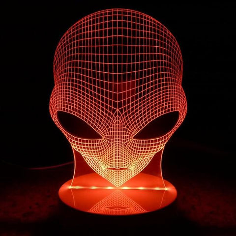 Alien LED Hologram Night Light