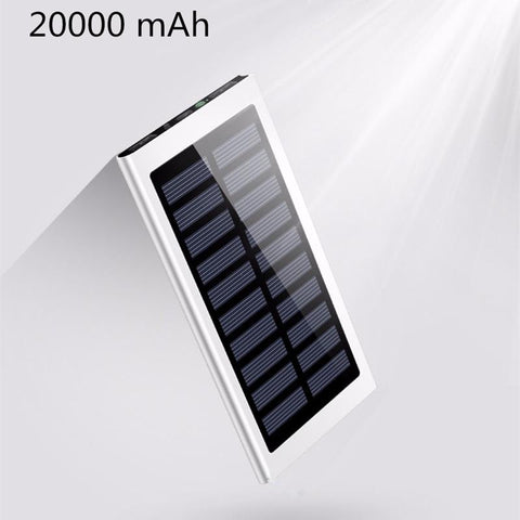Aluminum Portable Solar Power Bank 20000 MAh