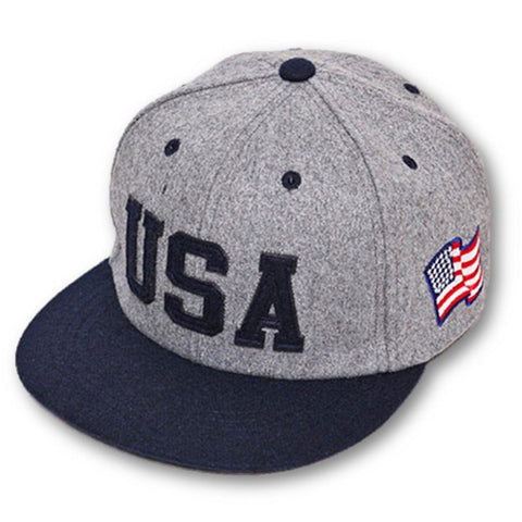 Apparel - Cool Stylish Gray Grey Red Black USA Baseball Cap - Take Your Appearance Up One Level With This Stylish Accessory