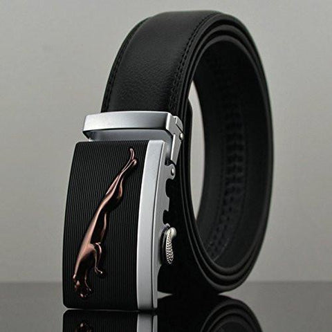 Apparel - Lightningstore Automatic Buckle New 2015 Brand Designer Mens Belts Genuine Leather Man Belt High Quality Men's Belts Luxury For Men 110-130cm (130 Cm)