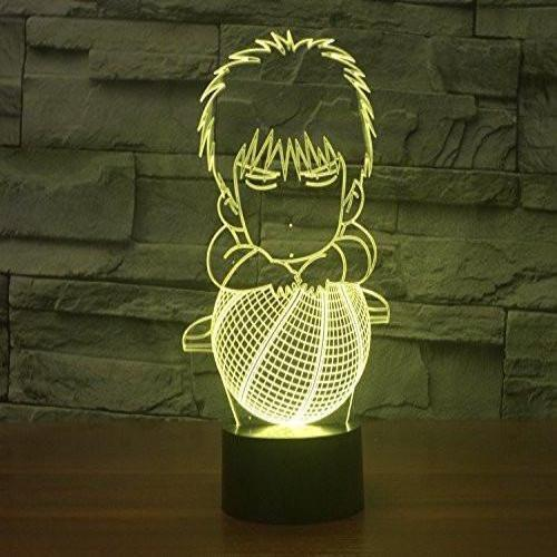 Baby Product - Basketball Cartoon Hologram LED Night Light Lamp - Color Changing