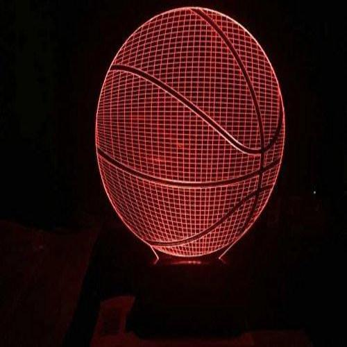 Baby Product - Basketball Hologram LED Night Light Lamp - Color Changing