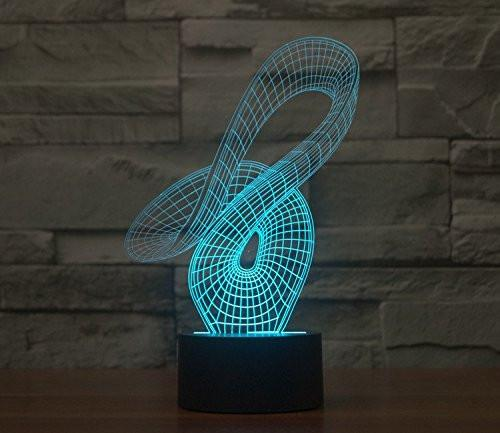 Baby Product - Curvy Hologram LED Night Light Lamp - Color Changing
