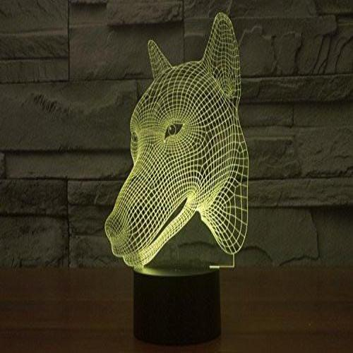 Baby Product - Dog Head Hologram LED Night Light Lamp - Color Changing