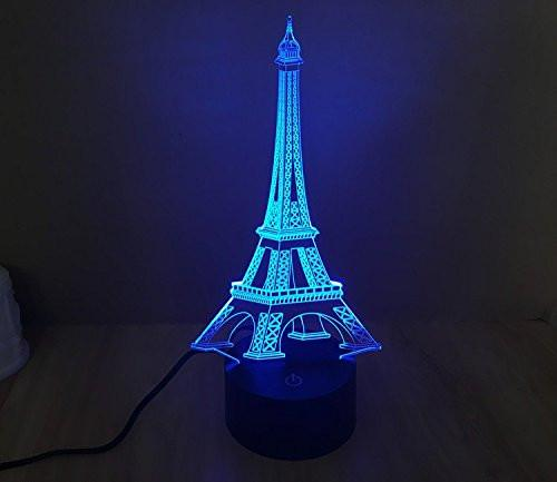 Baby Product - Eiffel Tower Hologram LED Night Light Lamp - Color Changing