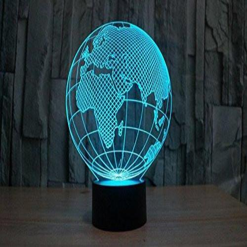 Baby Product - Europe Asia Africa Hologram LED Night Light Lamp - Color Changing