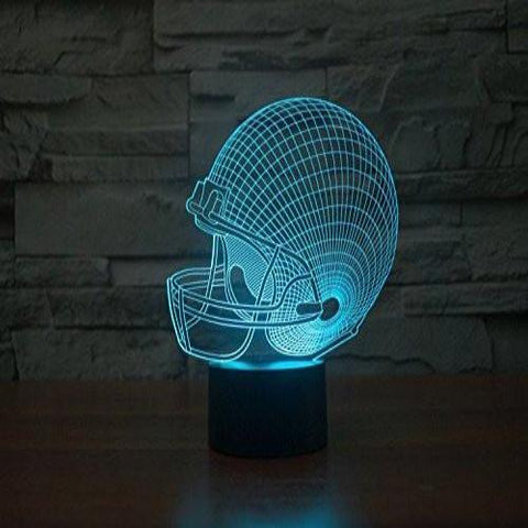 Baby Product - Football Helmet Hologram LED Night Light Lamp - Color Changing