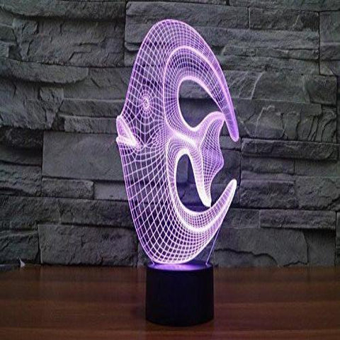 Baby Product - LED Night Light Outlet - Fish Hologram LED Night Light Lamp - Color Changing