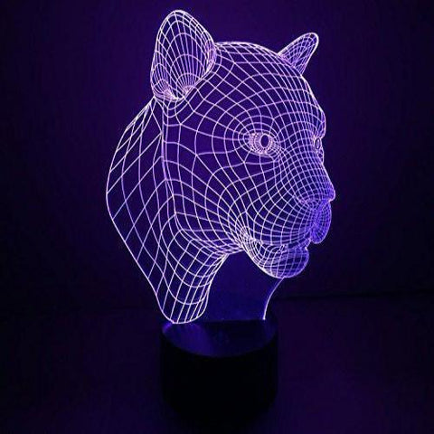 Baby Product - Night Light For Baby - Black Panther Jaguar Hologram LED Night Light Lamp - Color Changing