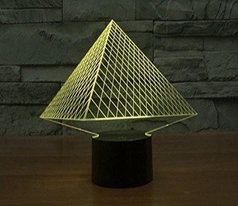 Baby Product - Night Light Lamp By LightningStore - Triangle Pyramid Hologram LED Light  - Color Changing