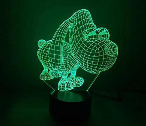 Baby Product - Night Light Toys - Dog Hologram LED Night Light Lamp - Color Changing