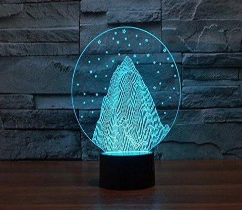 Baby Product - Snow Mountain Hologram LED Night Light Lamp - Color Changing