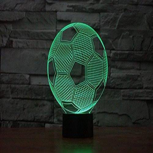 Baby Product - Soccer Ball Hologram LED Night Light Lamp - Color Changing