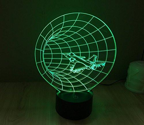 Baby Product - Space Vortex Hyperdrive Hologram LED Night Light Lamp - Color Changing