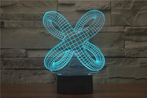 Baby Product - X Octopus Hologram LED Night Light Lamp - Color Changing