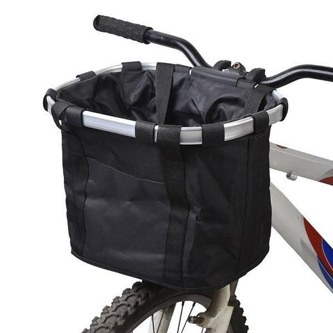 Biking - Bag - Detachable Basket Aluminum Alloy Frame Pet Carrier For Bicycle