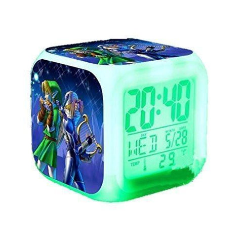 CE - LightningStore The Legend Of Zelda 7 Colors Changing LED Light Alarm Clock Hot Sale
