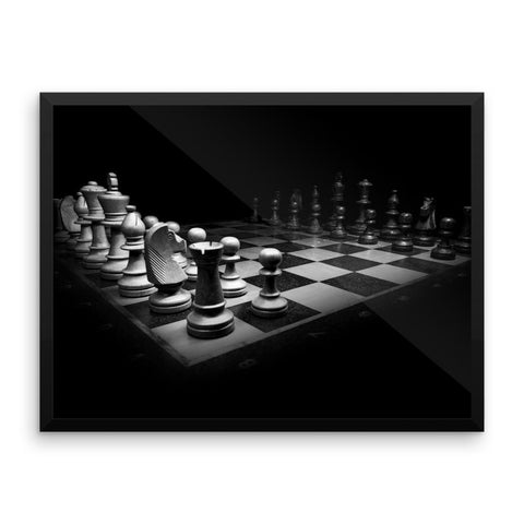 Chess Framed Photo Poster Wall Art Decoration Decor For Bedroom Living Room