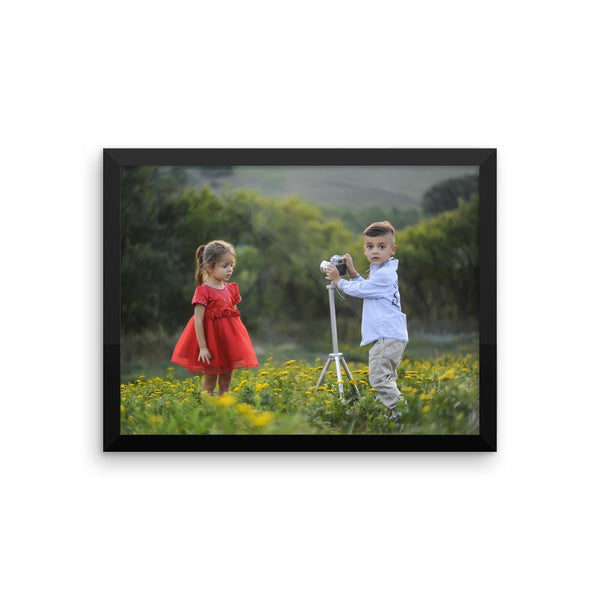 Child Photographers Framed Photo Poster Wall Art Decoration Decor For Bedroom Living Room